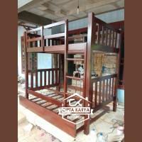 Jual Furniture Bunk Bed Kamar Set Minimalis Dipan Tempat Tidur Tingkat Anak Murah