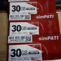 PAKET INTERNET SIMPATI 30 GB MURAH