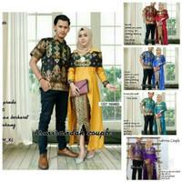 Jual Batik couple sarimbit, baju batik modern muslimah original, pesta Murah