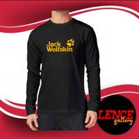 kaos distro t-shirt lengan panjang JACK WOLFSKIN tshirt pria trendy