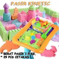 Mainan Edukasi Anak Pasir Kinetic (BONUS 29 CETAKAN)