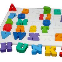 Mainan Edukasi Puzzle Kayu Chunky Alphabet Huruf BESAR SNI