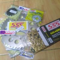 gear SSS 1Set HSBT ( Depan 14 - 15 + blkg 40 ~ 45 ) Byson Vixion