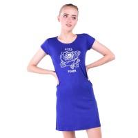 LEMONE Tumblr Tee/ Kaos Cewe Premium/ Dress Wanita Girls Power - Biru