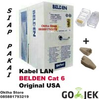 KABEL LAN UTP cat 6 / cat6 BELDEN made in USA meteran / eceran