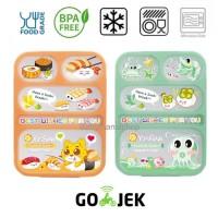 Kotak Makan Lunch Box Yooyee 5 Sekat / Grid Leak Proof / Anti Bocor