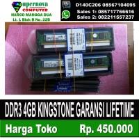 DDR3 4GB KINGSTONE GARANSI LIFETIME LONGDIM