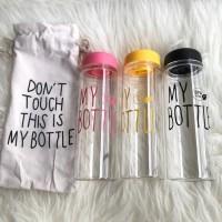 NEW Botol Minum My Bottle Gratis Pouch 500ml bli 10pcs = Rp 15.000