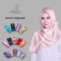 Jilbab Segi Empat Satin Polos Rawis Square