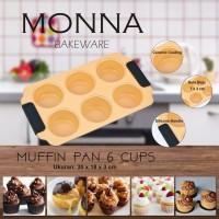 Jual Muffin Pan 6 Cups Monna Bakeware - Cetakan Cupcake Murah
