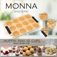 Jual Muffin Pan 12 Cups Monna Bakeware - Cetakan Cupcake Murah