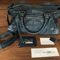 Tas Preloved Authentic Balenciaga Bag Part Time Blue Cobalt Original