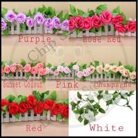 Bunga Mawar plastik / Mawar rambat