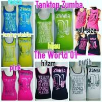 Baju Senam Zumba Tanktop Zumba The World 01 Murah