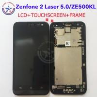 Jual LCD Zenfone 2 Laser 5.0 TOUCHSCREEN ASUS ZE500KL TOUCHSCREEN+FRAME ORI Murah