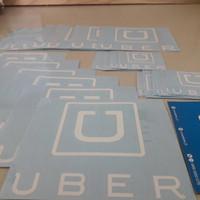 Sticker / Stiker Cutting Ojek Online / Taksi Online UBER Custom Set