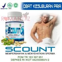 Scount Obat herbal alami BPOM u/ pengental, penambah & penyubur sperma