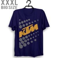 Andst Kaos KTM Racing Motocross 1 XXXL Warna Biru Dongker T shirt xx