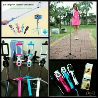 Paket Selfie Lengkap Tongsis + Tripod + Remote Bluetooth + Holder HP