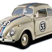 Herbie Love Bug DIECAST Car Hot Wheels ELITE 1962 1/18 Scale #53