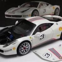 FERRARI 458 ITALIA CHALLENGE WHITE #3 ELITE EDITION 1/18 CAR BY HOT WH