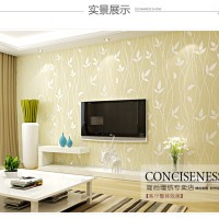 Wallpaper 3D Self Adhesive Warm Idillyc Leaf 53cmx5m- Beige