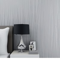 Wallpaper 3D Self Adhesive Fashion Modern Stripe 53cmx5m- Grey 7063