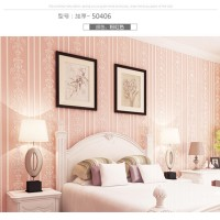 Wallpaper 3D Non Woven Self AdhesiveEuropian Stripe 53cmx5m-Pink 50406