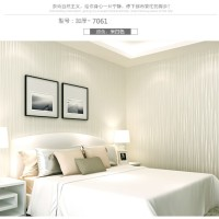 Wallpaper 3D Self Adhesive Fashion Modern Stripe 53cmx5m- White 7061