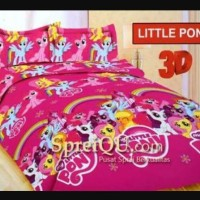 SPREI/SEPRAI BONITA KUDA PONY/LITTLE PONY PINK UK KING 180X200CM