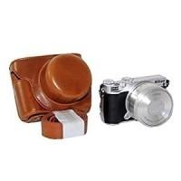 Leather case NIKON 1 J5 Camera Kamera Bag Tas Cover - Black/Hitam
