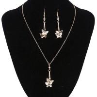 Perhiasan set anting dan kalung emas model kupu-kupu