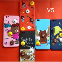 Case Line 3D Vivo V5 Softcase Casing Cover Hp Gambar Timbul