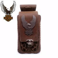 Dompet HP Pinggang HARLEY DAVIDSON 6 inch - 100% ASLI Kulit Import