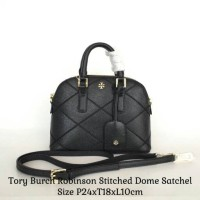 AD SMART STORE READY Tory Burch Robinson Stitched Dome Satchel - 6528