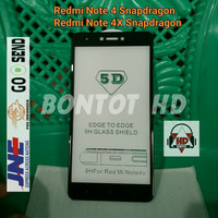 TEMPERED GLASS 5D XIAOMI REDMI NOTE 4 4X TAM SNAPDRAGON FULL LAYAR HP