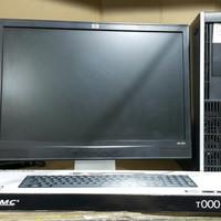 PC CPU Komputer HP Core 2 Duo dan LCD