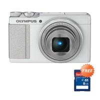 Olympus Stylus XZ-10 Putih Kamera Pocket Memory Card 8 GB
