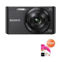 Sony Cyber Shot DSC W830 Kamera Pocket - Black [20.5 MP] Memory