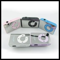 GRATIS ONGKIR! C-LOGO MP3 PLAYER TF CARD WITH SMALL CLIP SILVER