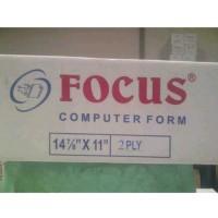 Kertas Continuous Form Focus 14 7/8 x 11 (2 ply)