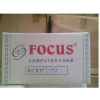 Kertas Continuous Form Focus 9 1/2 x 11 (1 ply)