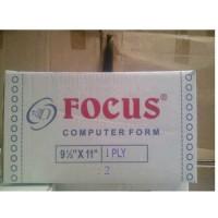 Kertas Continuous Form Focus 9 1/2 x 11 :2 (1 ply)