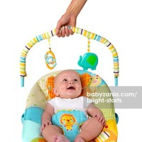 Bright Starts Jubilant Jungle Bouncer - Music & Vibrate MURAH