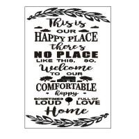 Poster Quotes This is Our Happy Place Dekorasi Rumah Shabby Keluarga