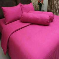 Perlengkapan Kamar Tidur Termurah Sprei Pink Tua Polos Desain Elegant