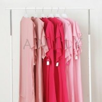 Jilbab Ceruti Terbaru 2 layer dusty pink - tsaudia amily