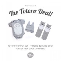 Hey Baby The Totoro Deal Romper Topi Socks