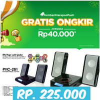 Speaker portabel simbada PMC 280 Hitam/speaker mini/ speaker aktif