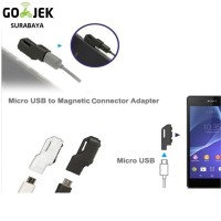 Micro USB to Magnetic Charger Adapter for Sony Xperia Z3 /Z2 / Z1 / Z